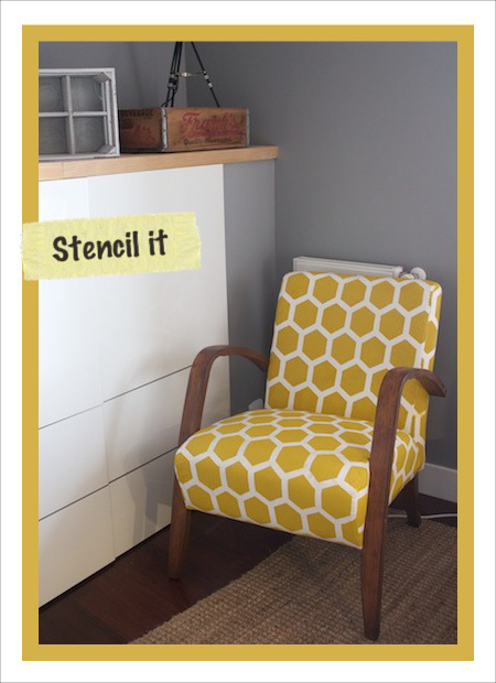 hand-stenciled-honeycomb-chair