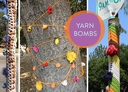Ojai yarn bombs